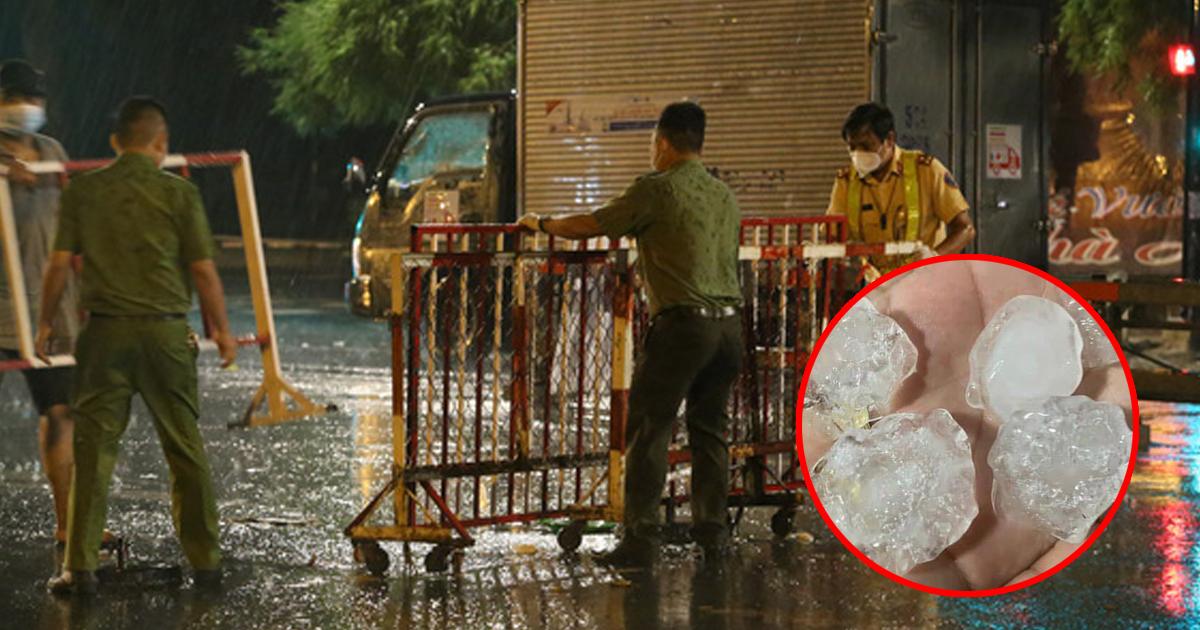 Xuất hiện mưa đá ở TP.HCM, hiện tượng lốc xoáy tại Bến Tre