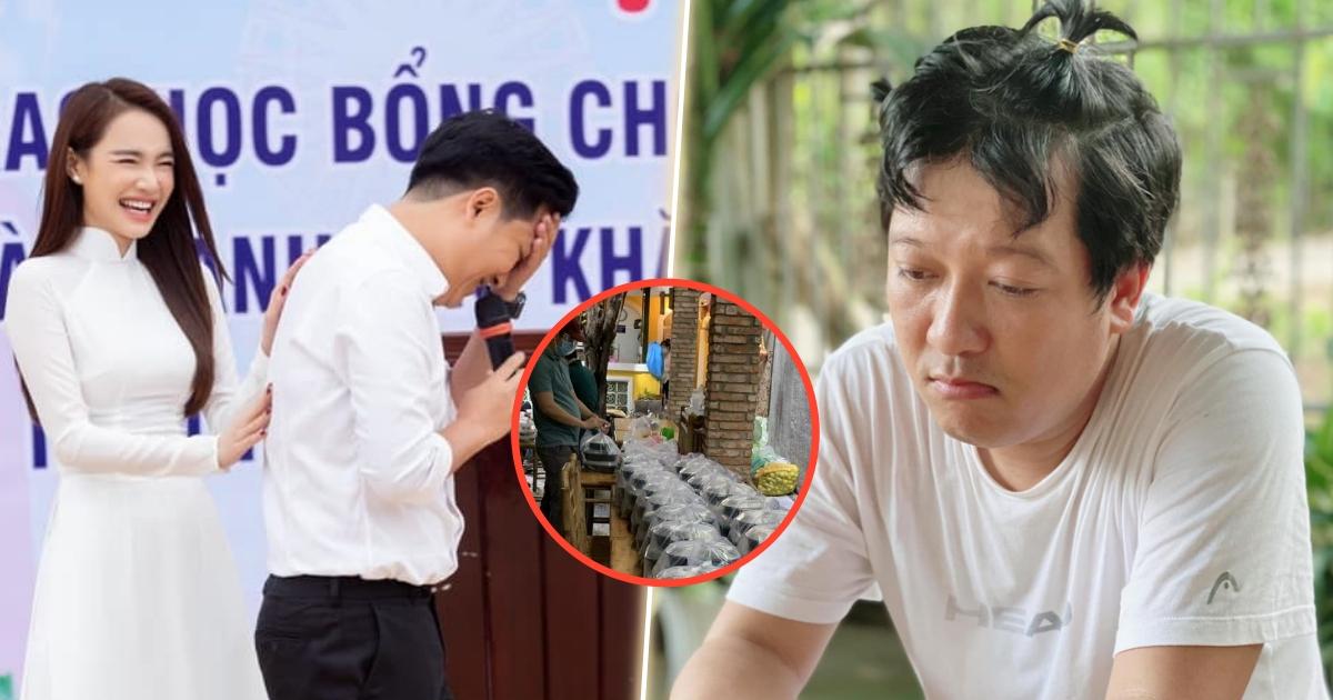 Trường Giang, Nhã Phương âm thầm làm bếp ăn từ thiện giúp người dân, góp 300 triệu cho công tác chống dịch