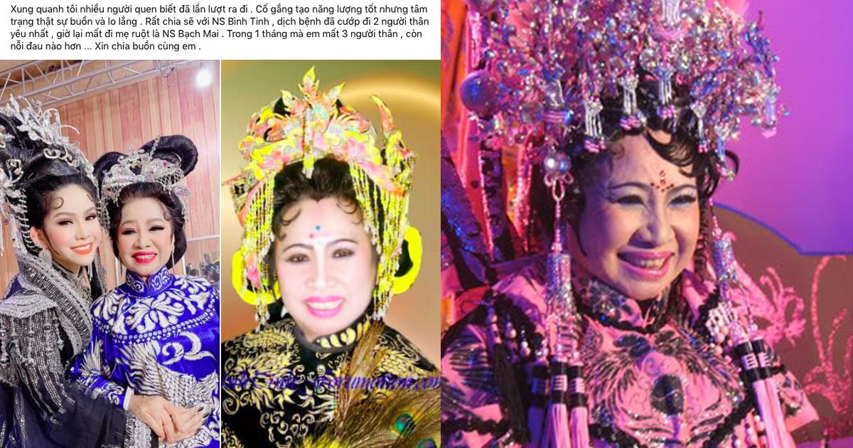 NS Bạch Mai qua đời vì Covid-19 khiến dàn nghệ sĩ Việt và khán giả thương xót