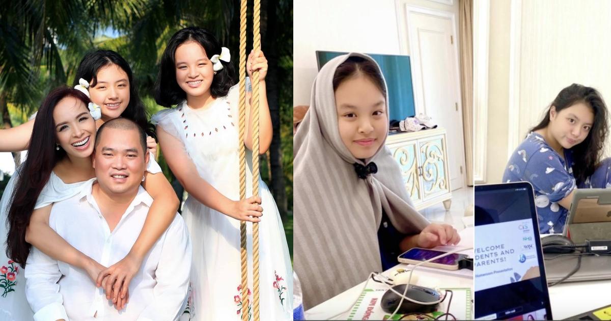 Cả gia đình kẹt ở đảo 2 tháng vì dịch, Thúy Hạnh quán xuyến chi tiêu, 2 con gái thiếu đồ học tập