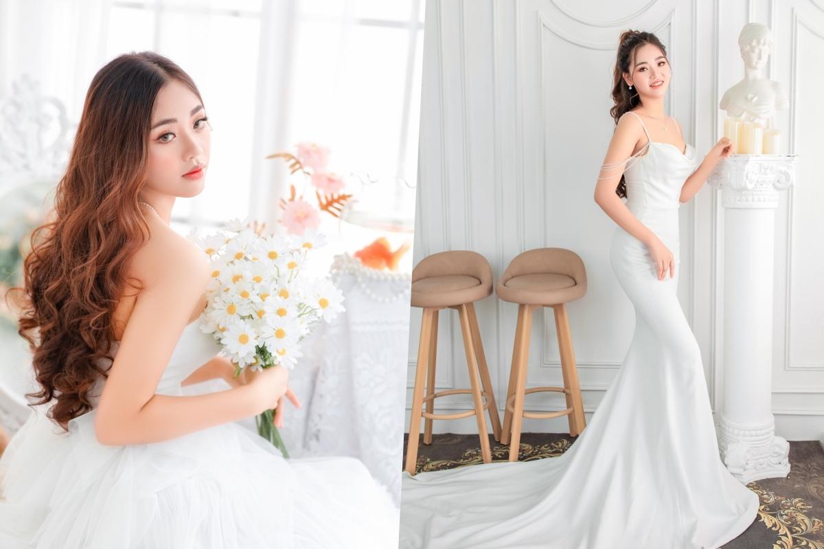 Sắc vóc nổi bật của nữ sinh 19 tuổi đang gây chú ý ở Hoa hậu Hoàn vũ Việt Nam 2021