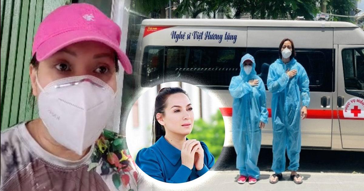 Việt Hương mua xe thứ 5 làm từ thiện, bức xúc vì bị đồn nhiễm bệnh, tin tức thất thiệt về Phi Nhung
