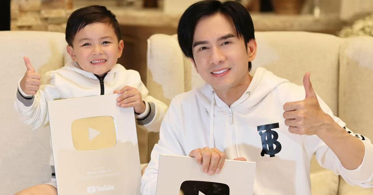 Đan Trường hãnh diện khi con trai 4 tuổi sở hữu nút bạc Youtube, cùng vợ cũ thưởng lớn cho quý tử