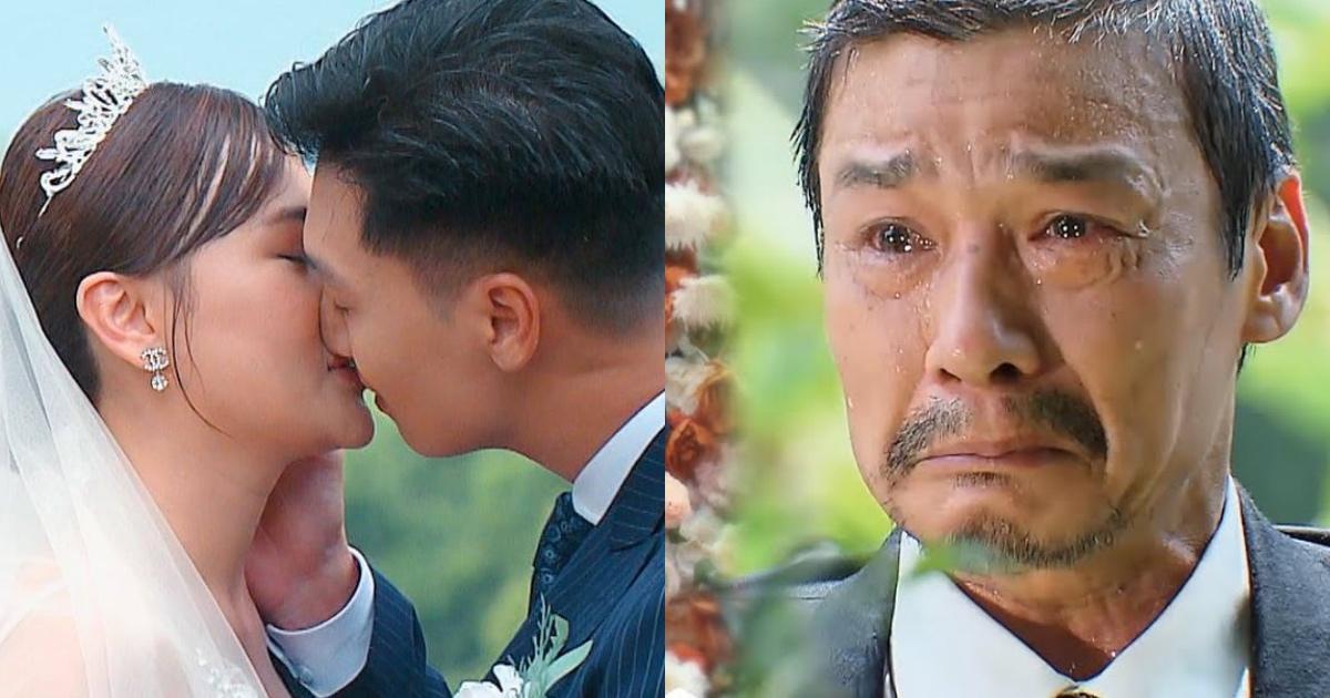 """Nam hạnh phúc trong """"đám cưới thế kỷ"""", ông Sinh rơi nước mắt vì không thể cầm tay con gái lên lễ đường"""