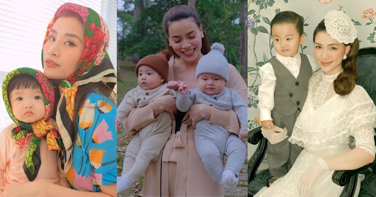 """Hội """"mẹ bỉm sữa"""" Hà Hồ, Đông Nhi, Hòa Minzy vất vả chăm con: Tất bật suốt ngày, đi tắm cũng khó yên"""