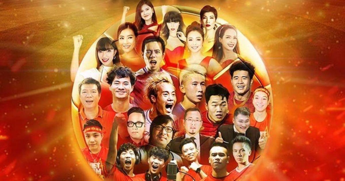 """MV """"Việt Nam tiến lên"""" quy tụ dàn sao đình đám, cổ vũ đội tuyển bóng đá Việt Nam"""