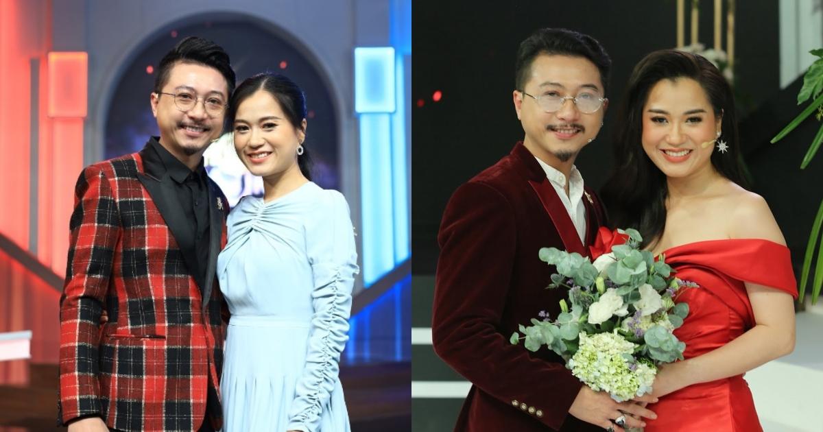 """Hết mình khi quay game show, Lâm Vỹ Dạ """"mải mê dìm hàng"""" chồng khiến Hứa Minh Đạt khổ tâm"""