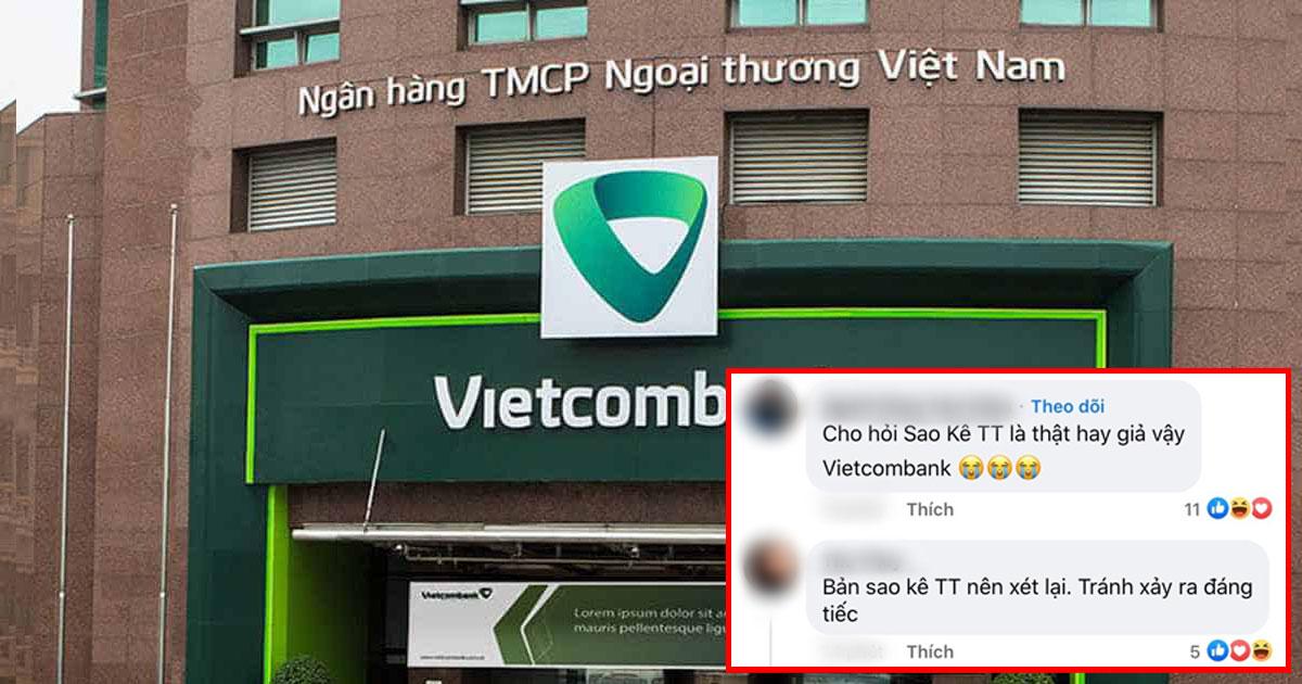Vietcombank lại khóa bình luận, xóa bài dù mới mở được vài phút vì bị CĐM tấn công