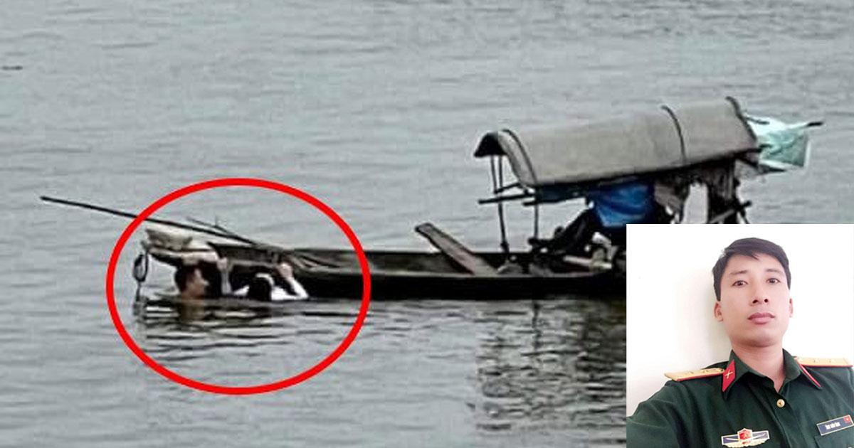 """Cảm phục thượng úy nhảy từ cầu cao 20m xuống sông cứu người: """"Lúc đó tôi không màng đến bản thân"""""""