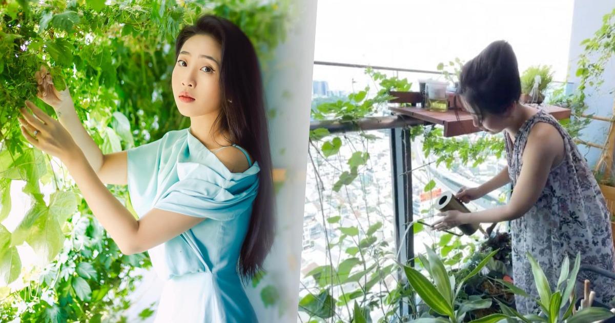 Liêu Hà Trinh khoe mảnh vườn tí hon, chia sẻ hành trình làm nông dân mùa dịch