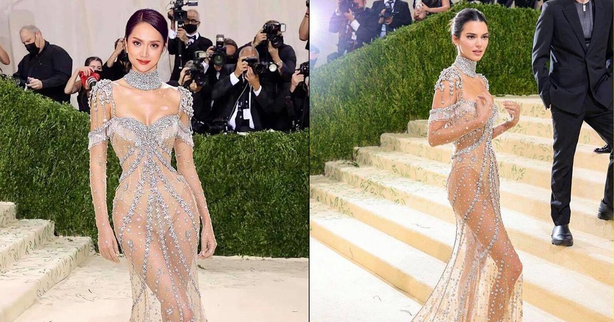 """Hương Giang tái xuất sau 7 tháng ở ẩn, diện váy xuyên thấu """"đọ dáng"""" cùng Kendall Jenner?"""