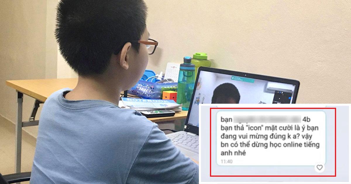 Học sinh lớp 4 bị dừng học, nêu tên trước lớp vì... thả haha vào tin nhắn cô giáo