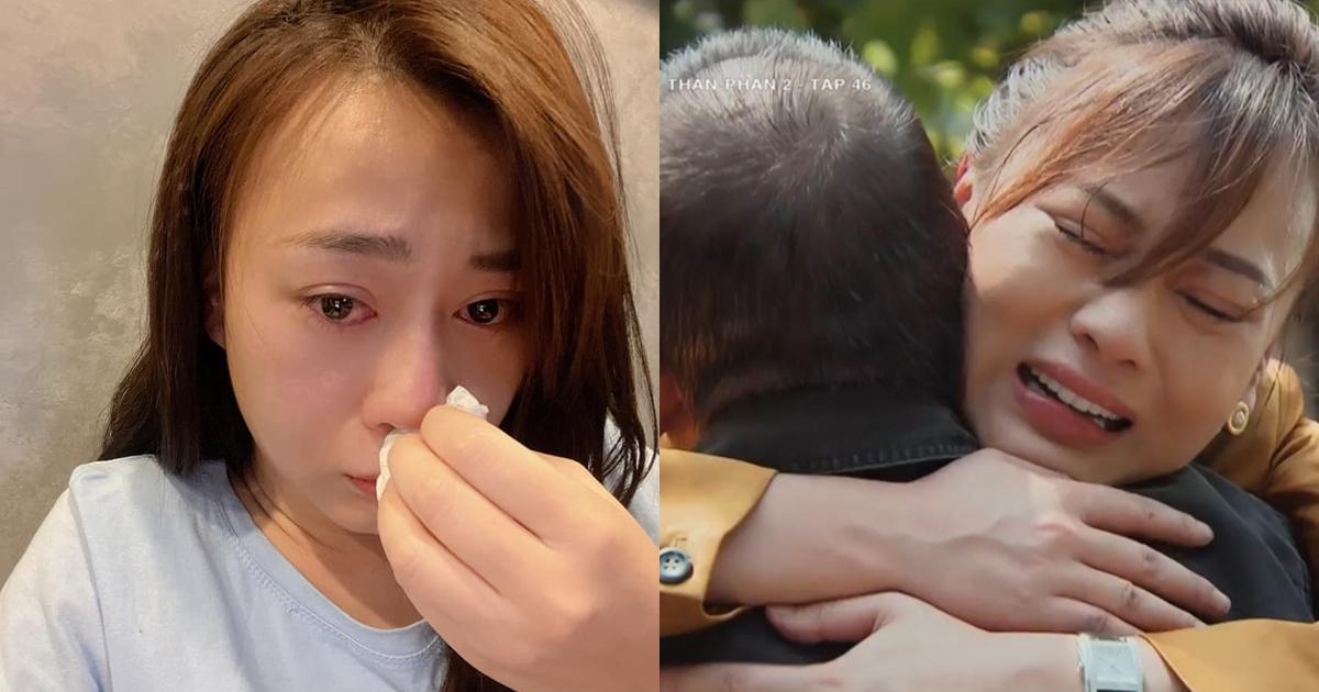 Phương Oanh khóc hết nước mắt khi xem cảnh Nam nhận bố Sinh