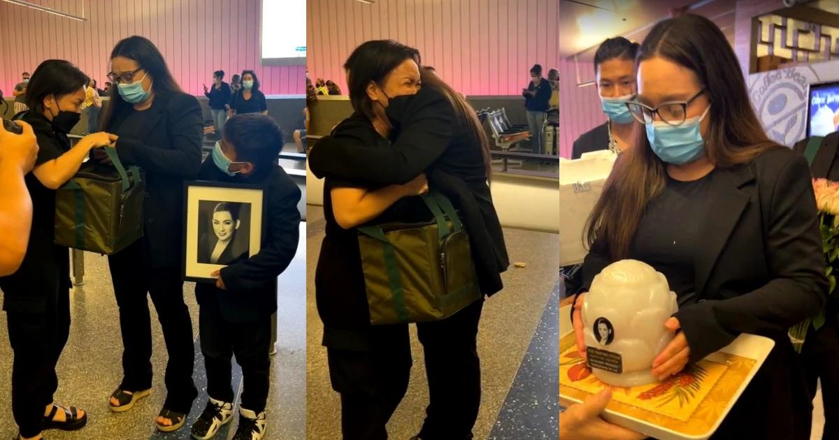 """Việt Hương khóc nức nở trao tro cốt cho Wendy: """"Phi Nhung trở về với vòng tay của gia đình nhé"""""""