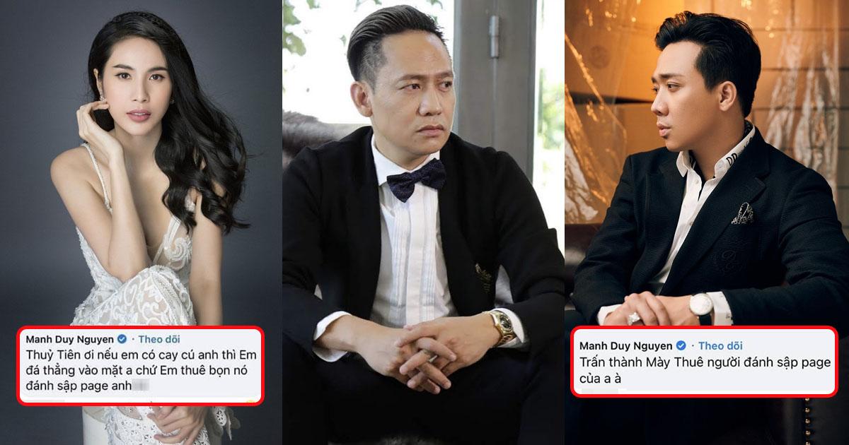 Bị đánh sập Facebook, Duy Mạnh bỗ bã chất vấn cả Trấn Thành lẫn Thủy Tiên: Sự thật ra sao?