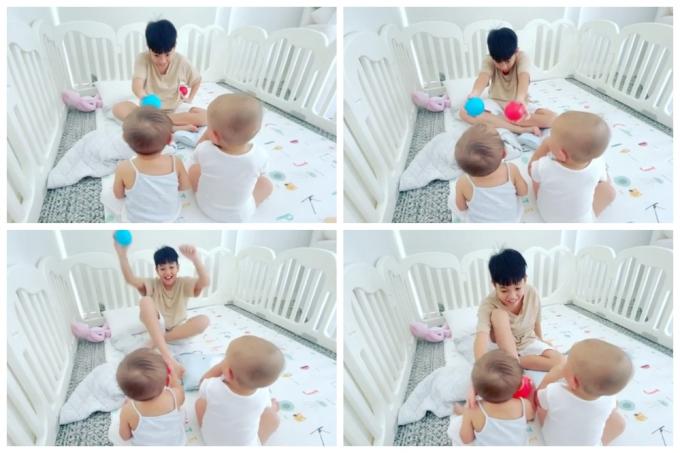 Hồ Ngọc Hà thích thú khi Kim Lý lần đầu khoe giọng, hát tiếng Việt tặng 2 nhóc tỳ Lisa - Leon