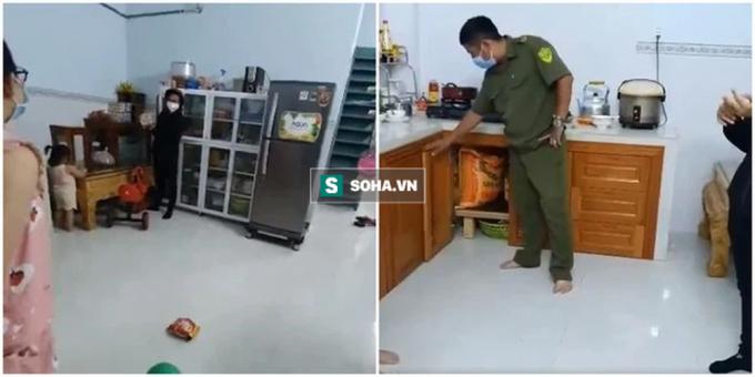 Cầu cứu xin tiếp tế, cán bộ đến nơi thì tá hoả: Tủ lạnh ngập thức ăn, gạo, sữa đầy trong kho