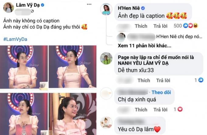 Lâm Vỹ Dạ được HHen Niê thả thính, khen ngợi nhan sắc: Hoa hậu cầu Bình Lợi không phải dạng vừa