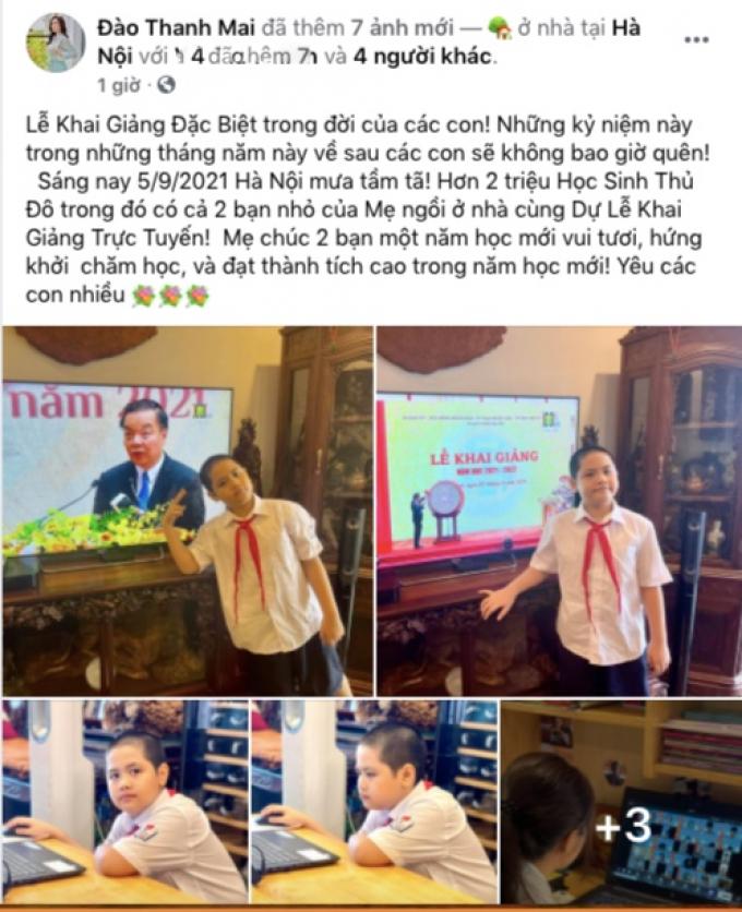 2 ái nữ nhà Hồng Đăng hào hứng đón khai giảng online, Bi Béo nghiêm túc nhưng vẫn khiến mọi người cười ngất