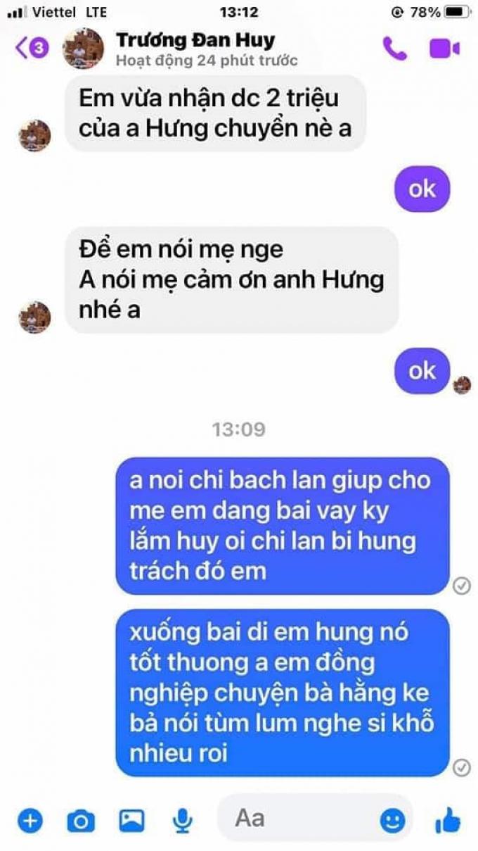 Thái độ gây tranh cãi của Trương Đan Huy sau khi giúp mẹ ruột nhận tiền hỗ trợ từ Đàm Vĩnh Hưng