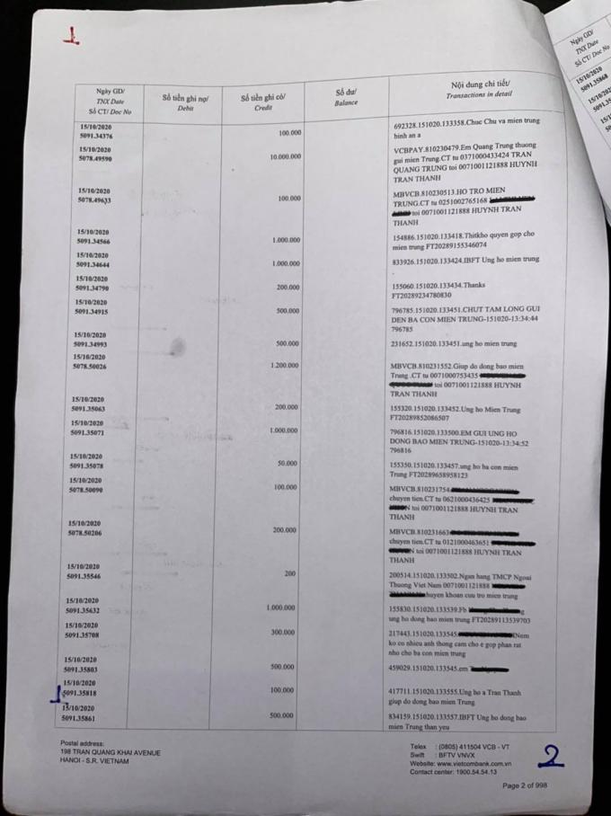 Im lặng nhiều ngày, Trấn Thành chính thức tung 1000 trang sao kê, bác bỏ nghi vấn ăn chặn tiền từ thiện