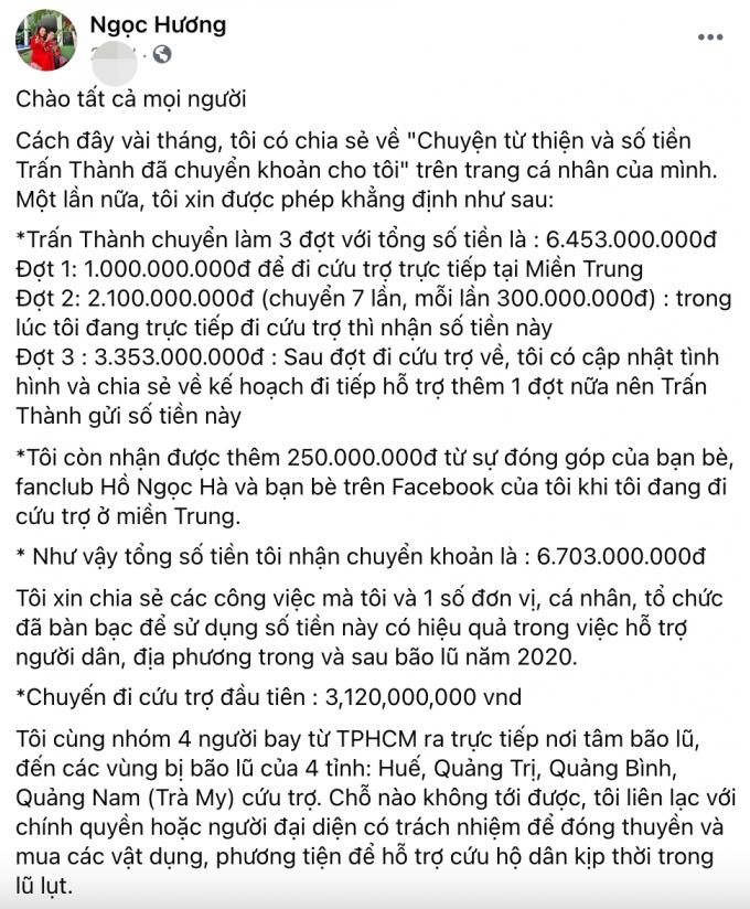 Mẹ Hồ Ngọc Hà kê khai rõ 6,7 tỷ: Không bao giờ ăn chặn, rút kinh nghiệm vì vẫn muốn làm từ thiện