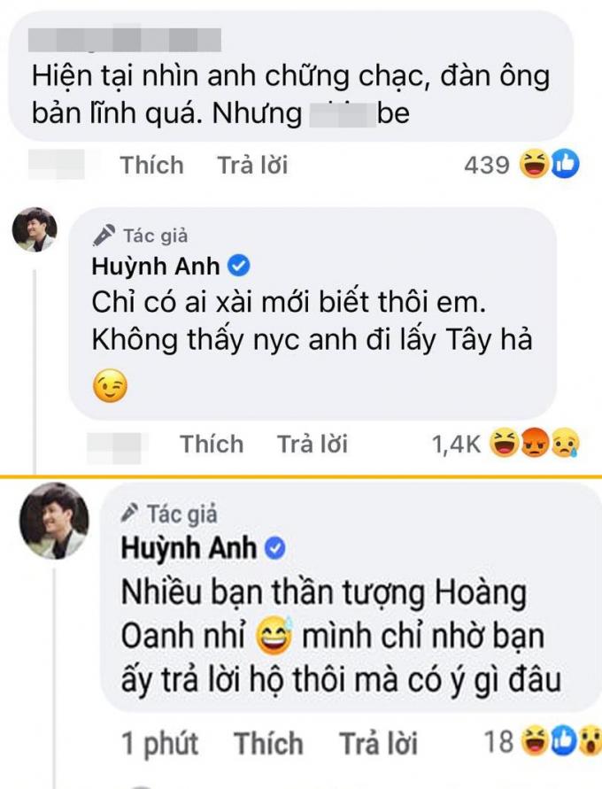 Huỳnh Anh bị ném đá vì kém duyên khi khoe chuyện kích thước, lôi tình cũ Hoàng Oanh vào làm bia đỡ