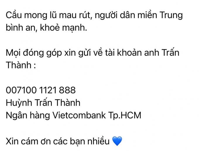 Tuấn Trần chuyển nhầm 50 triệu từ thiện vào thẻ cá nhân của Trấn Thành, nam MC xử lý sao cho minh bạch?