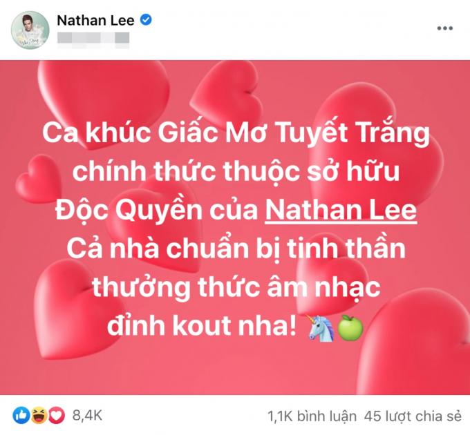 Hậu ồn ào sao kê từ thiện, Thủy Tiên bị Nathan Lee mua đứt bản hit để đời Giấc mơ tuyết trắng