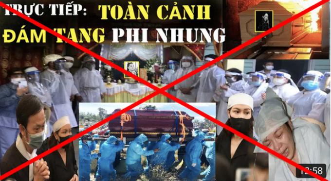 Xuất hiện nhiều livestream giả tang lễ của cố CS Phi Nhung, câu view phản cảm gây phẫn nộ