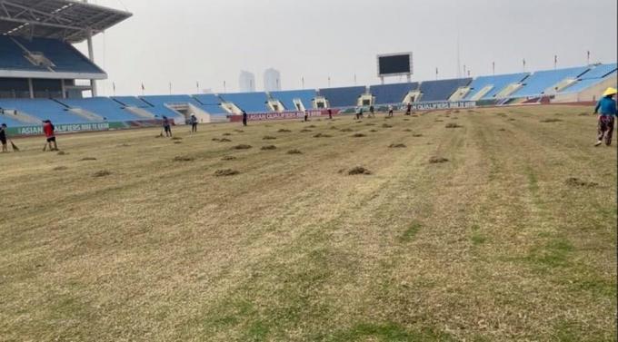 Vẻ khác lạ của sân Mỹ Đình khi sắp đến hạn kiểm tra của Liên đoàn Bóng đá Châu Á