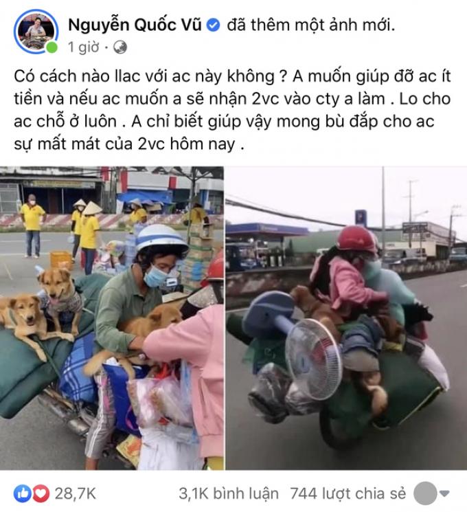 Ông xã Đoàn Di Băng chuyển nóng 50 triệu cho chủ của 15 chú chó bị tiêu huỷ