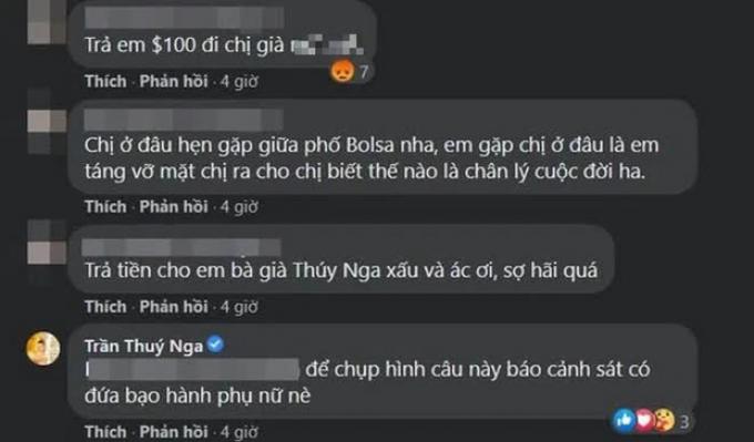 """Chia buồn với đồng nghiệp nhưng bị netizen tràn vào đòi tiền, doạ """"táng vỡ mặt"""", Thuý Nga phản ứng thế nào?"""