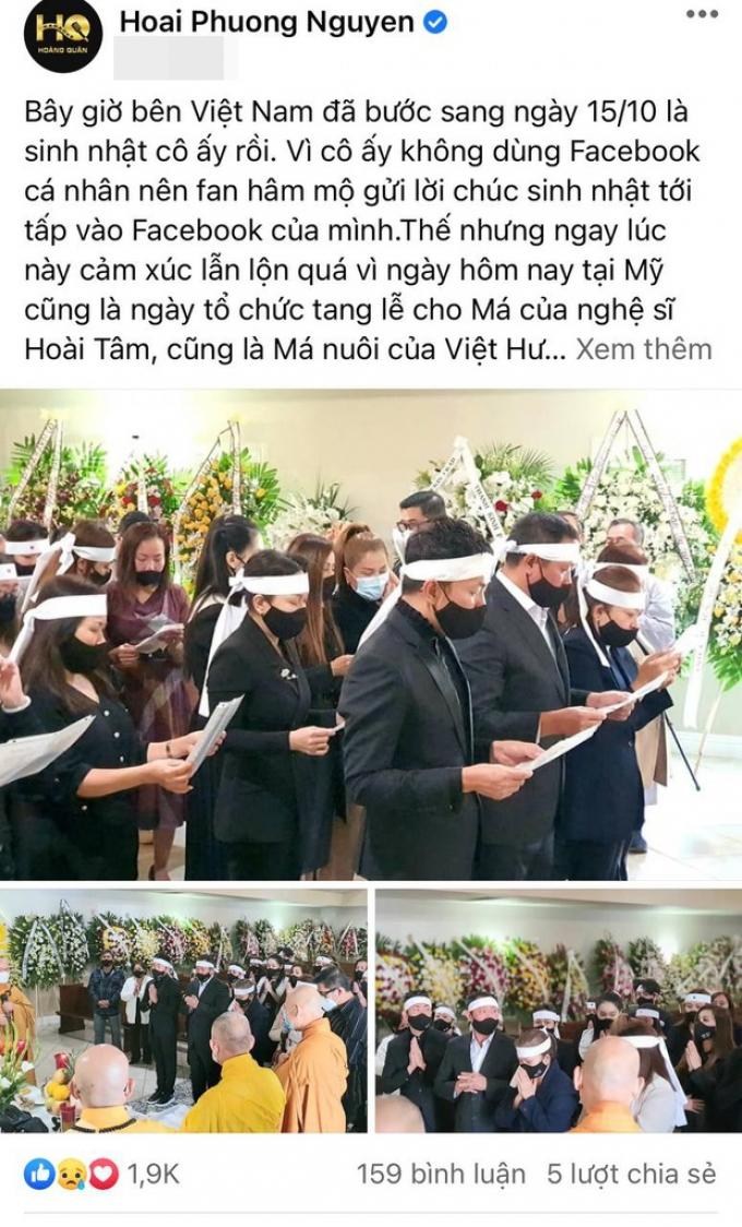 Xong hậu sự của Phi Nhung, Việt Hương lại lo tang lễ mẹ nuôi, ông xã xót xa vì 1 điều đặc biệt