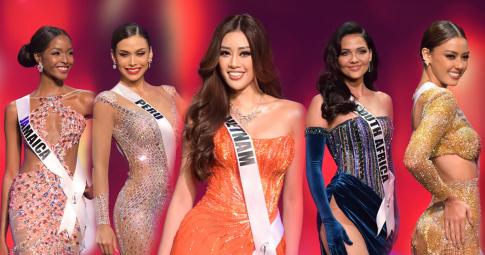 10 đối thủ diện váy dạ hội đẹp tuyệt đỉnh, Khánh Vân bị lép vế: Tính toán quá hóa thiệt thòi!