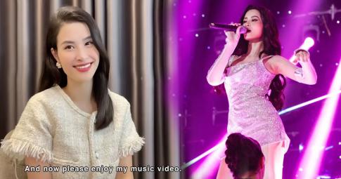 """""""Mẹ bỉm sữa"""" Đông Nhi đẹp dịu dàng trên sóng show quốc tế Asean - Japan Music Festival khiến fans nức lòng"""