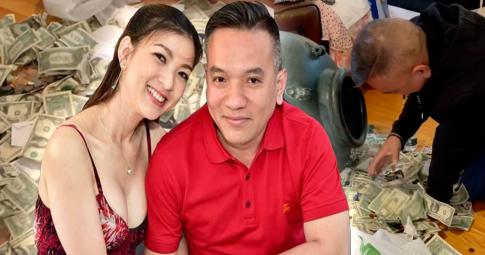 """Vợ chồng Phạm Thanh Thảo """"đập lu"""" chứa toàn tiền đô, fans ngưỡng mộ gia đình khéo tiết kiệm"""