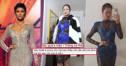 """H'Hen Niê khoe bộ váy chưa diện ở Miss Universe 2018, fans chê: """"Quá xấu, may là chưa mặc"""""""