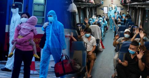 """""""Chuyến tàu 0 đồng"""" hồi hương của 814 người con Hà Tĩnh chưa biết ngày trở lại Sài Gòn"""