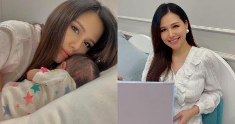 Dân tình xuýt xoa với nhan sắc của Phanh Lee sau khi sinh con gái đầu lòng
