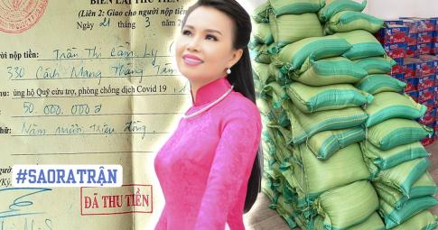 Ca sĩ Cẩm Ly âm thầm ủng hộ gạo, mỳ tôm, từng gửi hàng trăm triệu đồng giúp người dân mùa dịch