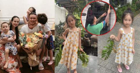 Ở nhà mùa dịch, Tuấn Hưng giản dị hái sấu cho vợ, nhan sắc ái nữ 4 tuổi gây chú ý