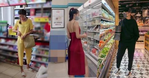 """Sao Việt đi siêu thị mùa dịch: Minh Tú chọn đồ bộ, Thanh Hằng """"sang chảnh"""", Tiểu Vy đơn giản mà quyến rũ"""