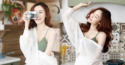 Ngân Khánh khoe bộ ảnh mới vai trần vào bếp, fan xuýt xoa vì nhan sắc rạng rỡ ở tuổi U40