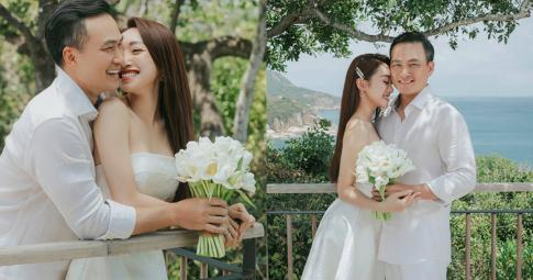 """Chi Bảo khoe ảnh cưới """"tình bể bình"""" chụp lúc bà xã mang thai 2 tháng, tạm hoãn hôn lễ vì dịch bệnh"""
