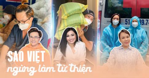 Sao Việt lần lượt ngừng làm từ thiện mùa dịch: Lăn xả, hết lòng vì bà con lại chịu nhiều áp lực