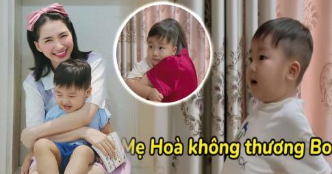 """Hòa Minzy bối rối khi bị quý tử 2 tuổi trách: """"Mẹ không thương Bo"""", fans xem mà rưng rưng nước mắt"""