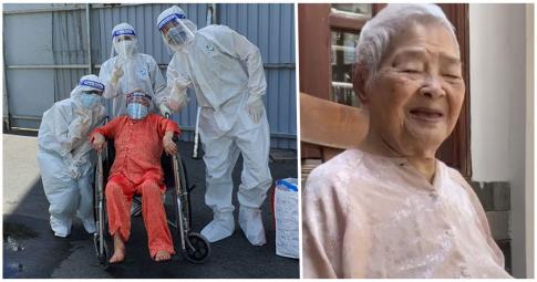 TP.HCM: Thần kỳ cụ bà 110 tuổi mắc nhiều bệnh nền chiến thắng Covid-19