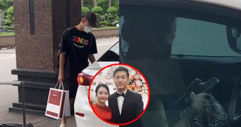 Thái độ của vợ Lương Xuân Trường khi đưa chồng lên tuyển gây tranh cãi: Lạnh lùng, không nhìn lấy một lần