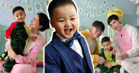 Quý tử nhà Hòa Minzy bảnh bao mừng sinh nhật 2 tuổi, Đức Phúc - Erik thi nhau chúc mừng Bo Thúi